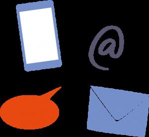 Illustration de moyens de communications signifiant l'adaptabilité