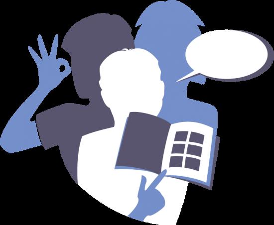 Illustration de personnes représentant la communication verbale ou non verbale